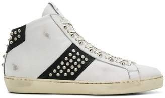Leather Crown M Iconic studded hi-tops