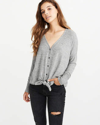Abercrombie & Fitch Tie-Front Button-Up Top