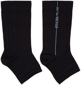 Prada Black Cut-Out Toe Socks