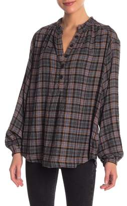 Free People Northern Bound Plaid Pullover