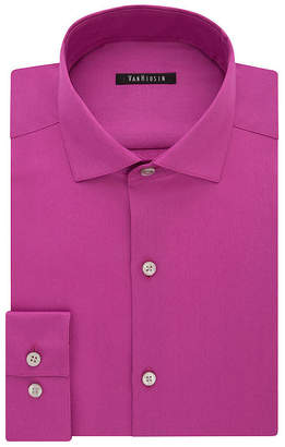 Van Heusen No-Iron Lux Sateen Mens Spread Collar Long Sleeve Dress Shirt - Slim
