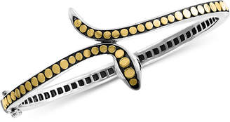 Effy Diamond Two-Tone Snake Bangle Bracelet in Sterling Silver & 18k Gold-Plate