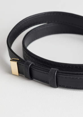 Metal Clasp Leather Belt