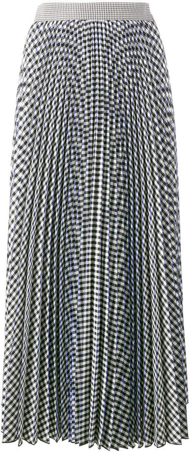 MSGM Gingham pleated skirt