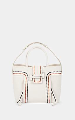 Tod's Women's Double T Leather Shopping Tote Bag - White