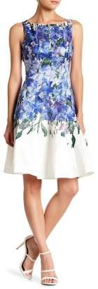Gabby Skye Floral Print Fit & Flare Dress