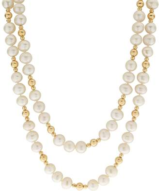 Pearlustre By Imperial PearLustre by Imperial 14k Gold Filled Freshwater Cultured Pearl Beaded Long Double Strand Necklace