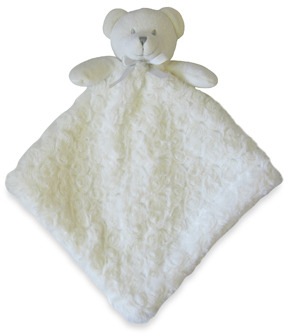 Nunu Rosette Ivory Bear Blanket