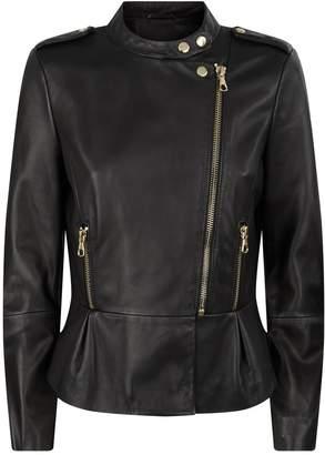 SET Leather Ruffle Jacket