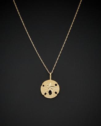 Italian Gold 14K Sand Dollar Starfish Pendant Necklace