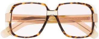 Gucci Oversize round frame glasses