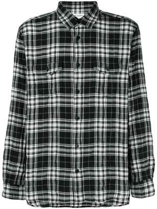 Saint Laurent plaid straight fit shirt