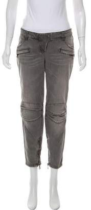 Balmain Structured Mid-Rise Jeans