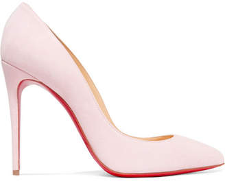 Christian Louboutin Pigalle Follies 100 Suede Pumps - Baby pink