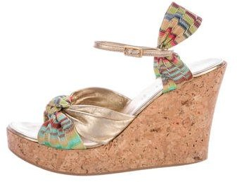 Missoni Knit Wedge Sandals
