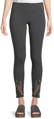 Johnny Was Nala Leggings with Embroidery, Petite