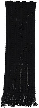 Valentino Black Wool Scarves