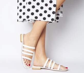 Office Sweet Dreams Strappy Sandals Off White Patent Croc