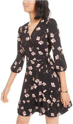 Bar III Floral-Print Wrap Dress