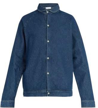 Raey - Peter Pan Collar Denim Jacket - Mens - Indigo