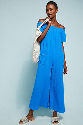 Mara Hoffman Blanche Off-The-Shoulder Jumpsuit