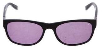 John Varvatos Tinted Rectangle Sunglasses