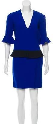 Roksanda Wool Bell Sleeve Midi Dress