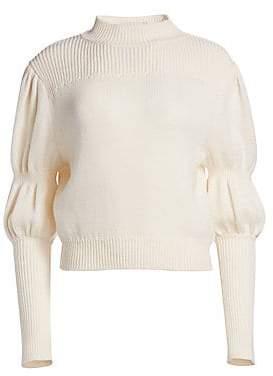 Derek Lam 10 Crosby Women's Wool Puff-Sleeve Sweater