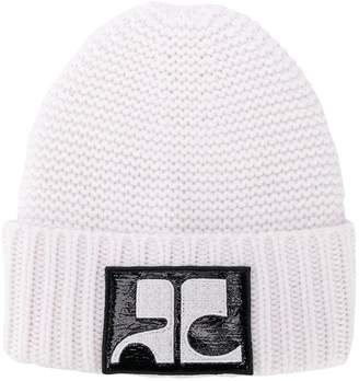 Courreges logo knitted beanie