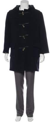 Burberry Wool-Blend Duffle Coat navy Wool-Blend Duffle Coat