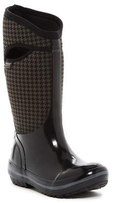 Bogs Plimsoll Houndstooth Tall Waterproof Snow Boot