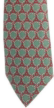 Hermes Geometric Horseshoe Silk Tie
