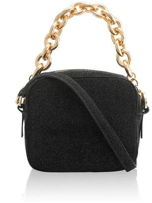 Amanda Wakeley Jackson Black Crystal Pochette Bag