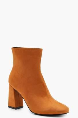 boohoo Square Toe Ankle Boots