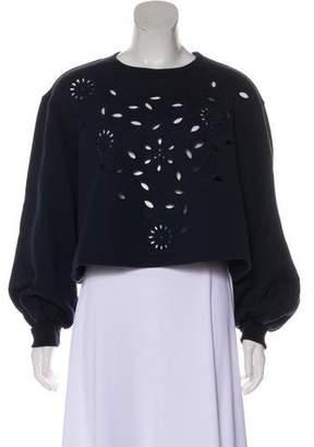 See by Chloe Cutout-Accented Long Sleeve Sweatshirt