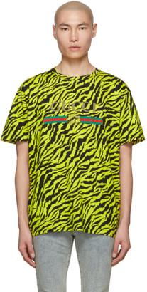 Gucci Yellow Zebra Vintage Logo T-Shirt