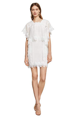 BCBGMAXAZRIA Chrystal Scallop Lace Dress