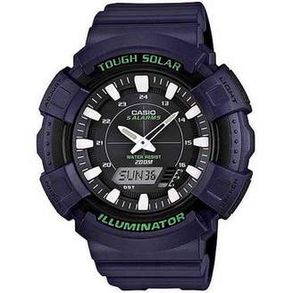 Casio Men's Solar-Powered Combination Watch, Lime Green Accents