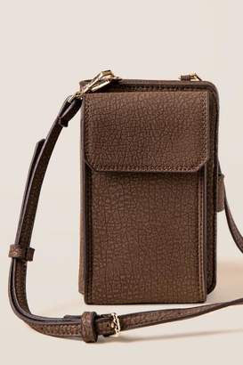 francesca's Jaida Phone Wallet Crossbody - Brown