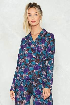 Nasty Gal Rose to the Occasion Wrap Top