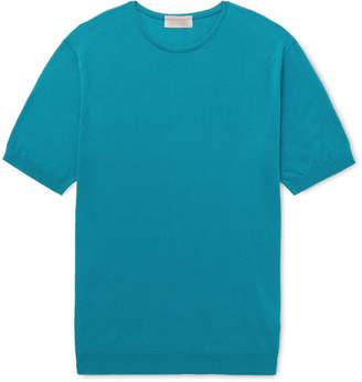 John Smedley Stonwell Slim-Fit Sea Island Cotton and Cashmere-Blend T-Shirt