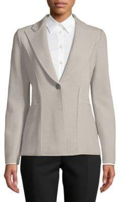 Giorgio Armani Ribbed Peak Lapel Jacket