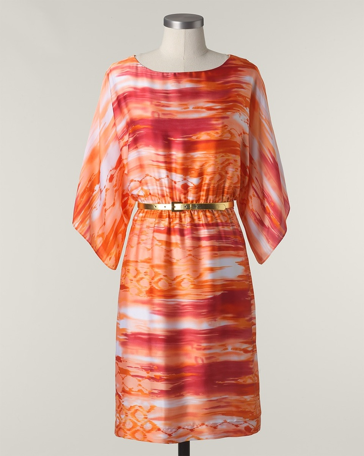Coldwater Creek Sunrise watercolors dress