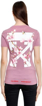 Cherry Blossom Fitted Jersey T-Shirt $340 thestylecure.com