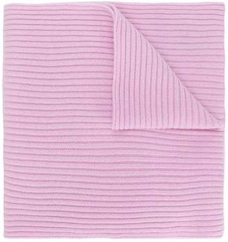 N.Peal Short Ribbed scarf