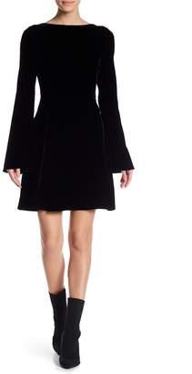 Derek Lam 10 Crosby Lace-Up Back Velvet Dress