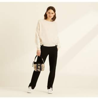 Amanda Wakeley Lawrence Ecru Cashmere Satin Jumper