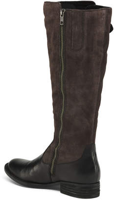 Børn High Shaft Lace Up Leather Boots