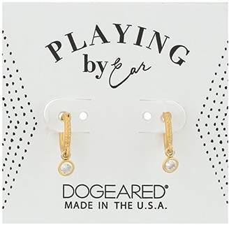 Dogeared Pe Pave Huggie Earrings