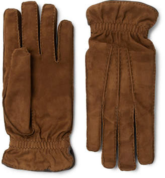 Brunello Cucinelli Cashmere-lined Suede Gloves